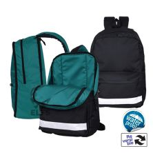 TAS RANSEL Tas Ransel Backpack Reversible 2in1 Hitam Tosca